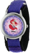 Disney Kids' W000051 Multi-Princess Stainless Steel Time Teacher Watch