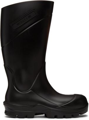 Alyx Black Logo Rain Boots