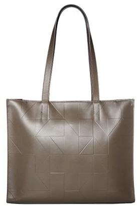 Ecco Signature Line Shopper (Warm Grey) Handbags