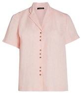 Thumbnail for your product : Lafayette 148 New York, Plus Size Bourne Button-Up Linen Top