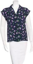 Michael Kors Silk Floral Print Top