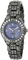 Swarovski Armitron Women's 75/3689GMDG Grey Crystal Accented Gunmetal Bracelet Watch