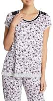 Kensie Short Sleeve Print Sleep Top