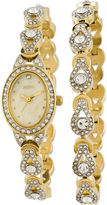 Elgin Womens Crystal Watch and Bracelet