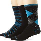 Ben Sherman Men's 3 Pack Albert Pattern Socks, Blue