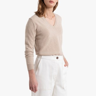 Benetton Wool Fine Knit Jumper with V-Neck
