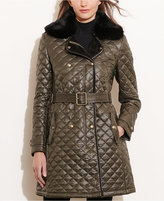 Lauren Ralph Lauren Faux-Fur-Trim Quilted Coat