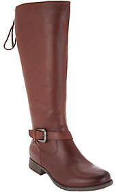 Earth Leather Tall Shaft Lace-back Boots -Raleigh