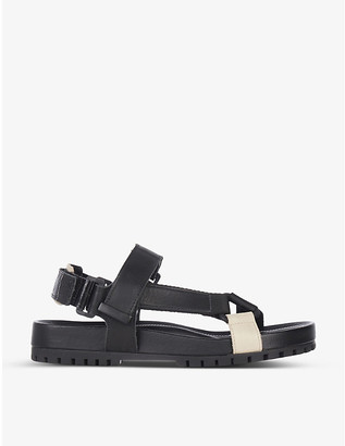 Dune Listen chunky leather flat sandals