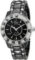 Christian Dior Women's CD1235E0C001 Black Eight Analog Display Swiss Automatic Black Watch