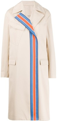 Victoria Victoria Beckham Striped Panel Trench Coat