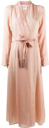Forte Forte Striped Midi Wrap Dress