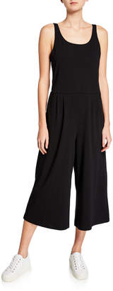 Eileen Fisher Petite Wide-Leg Cotton Stretch Jersey Jumpsuit