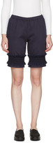 Ovelia Transtoto Navy Frill Hem Shorts