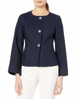 Nanette Lepore Women's Bell Sleeve Crew Neck Jacket