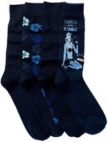 Tommy Bahama Hibiscus Camo Socks - Pack of 4