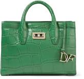 Diane von Furstenberg Viviana mini croc-effect leather tote