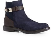 Tommy Hilfiger Pieced Suede Ankle Riding Boot