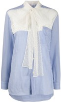 RED Valentino contrasting point d'esprit panel shirt
