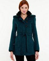 Le Château Tweed Hooded Coat