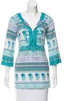 Calypso Printed Three-Quarter Sleeve Tunic