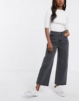Monki Mozik wide leg organic cotton jeans in grey