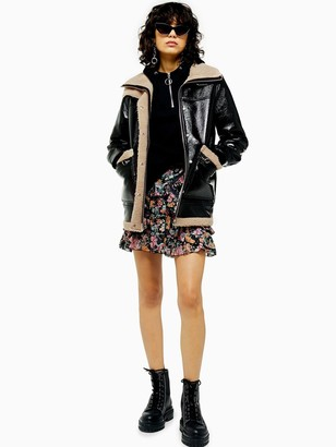 Topshop Otto Borg Lined Jacket - Black