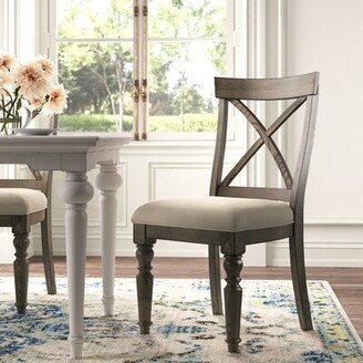 Studio Cross Back Side Chair in Weathered Driftwood Kelly Clarkson Home