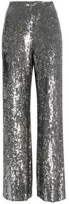 Alexis Sequined Silk Wide-leg Pants