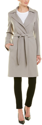 Cinzia Rocca Icons Belted Wool-Blend Coat