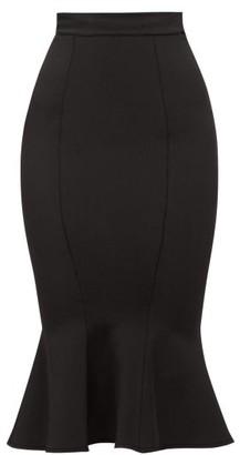 Alexandre Vauthier High-rise Fluted Jersey Skirt - Black