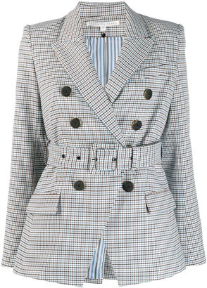 Veronica Beard checked double-breasted blazer