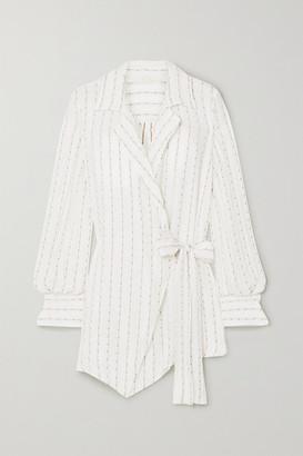 Chloé Silk-blend Jacquard Wrap Shirt - Ivory