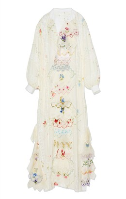 Tory Burch Handkerchief Embroidered Caftan