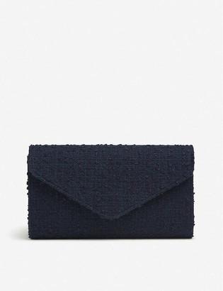 LK Bennett Lucia tweed envelope clutch bag