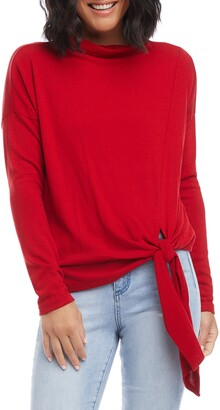 Karen Kane Mock Neck Tie Sweater