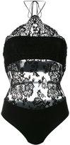 La Perla floral lace bodysuit - women - Cotton/Polyamide/Spandex/Elastane - 2