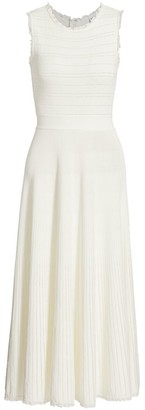 Herve Leger Ruffle Midi Dress