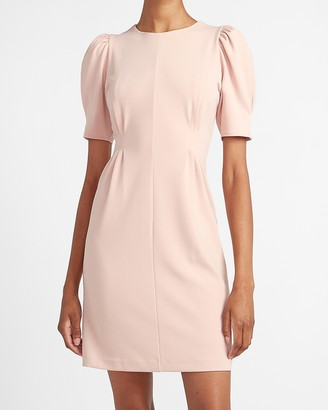 Express Puff Sleeve Sheath Dress