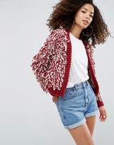 Asos Oversized Tassle Cardigan
