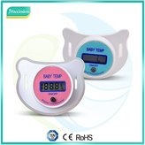 Pacifier Thermometer with LCD Digital for Baby Infant Kid; Soother, Dummy Thermometer for Fever / Temperature measurement Mouth; comfortable soft nipple -PINK by GK ELITE