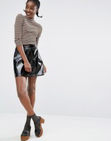 Monki Patent Skirt