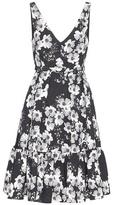 Erdem Gaby Printed Cloqué Dress