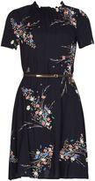 Izabel London Belted Floral Print Dress