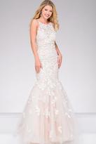 Jovani Sleeveless Crystal Applique Mermaid Gown
