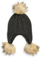 MICHAEL Michael Kors Faux Fur-Trimmed Knit Hat