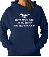 TeeStars - Put Me Back On My Horse Funny Gift for Horse Lover Women Hoodie