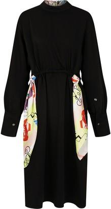 PortsPURE Scarf-Detail Midi Dress