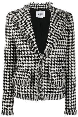 MSGM Houndstooth Pattern Jacket
