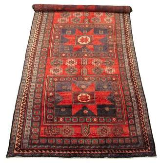 """Divina Isabelline One-of-a-Kind Southwestern Hand-Knotted 5'5"""" x 13' Wool Red Area Rug Isabelline"""